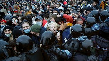 Starcia z policją w Petersburgu, 23 stycznia 2021 r.