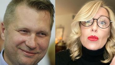 Przemysław Czarnek i Agata Młynarska