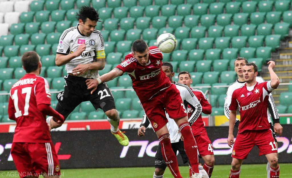 Ivica Vrdoljak w meczu Legia - Wisła