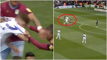 Mateusz Klich zaatakowany przez rywali po strzeleniu gola. Gracze Leeds pozwolili Aston Villi wyrównać