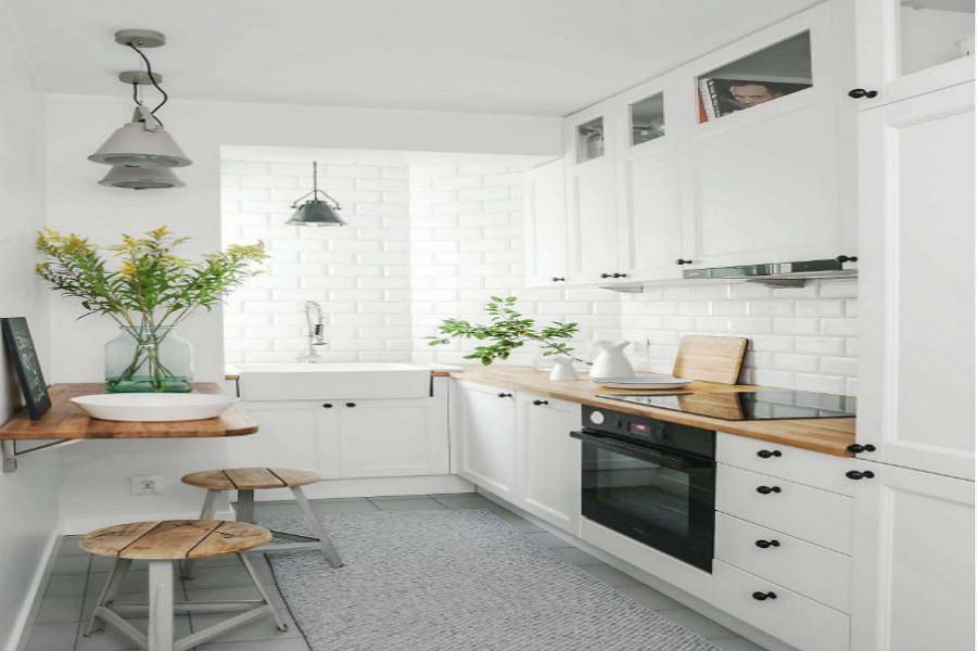 Kuchnia w bieli dla singla
