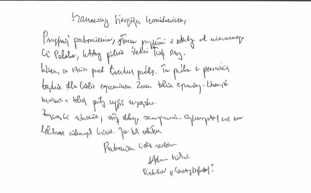 List Adama Michnika do Siarhieja Cichanouskiego