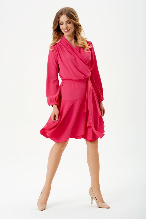 Sukienka malinowa z kolekcji wiosna-lato 2019