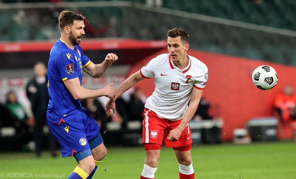 Arkadiusz Milik w meczu Polska - Andora