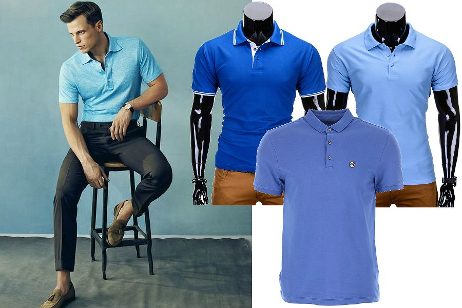 Niebieskie koszulki polo