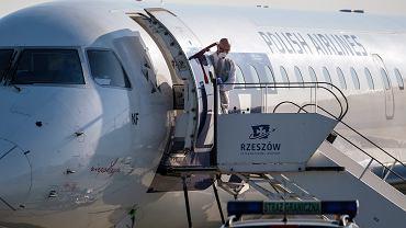 Samolot PLL LOT, zdjęcie ilustracyjne.