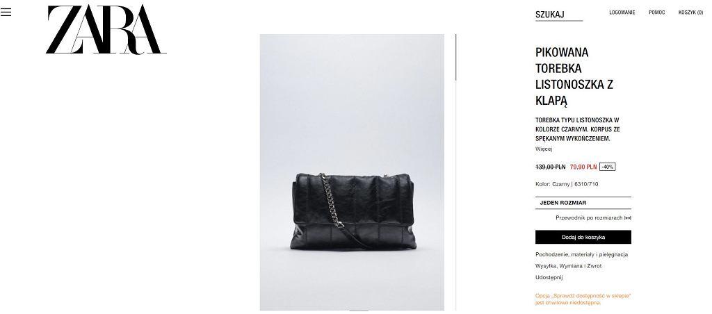 Ta torebka to wielki hit w sieci. Kupimy ją na wyprzedaży w sklepach Zara