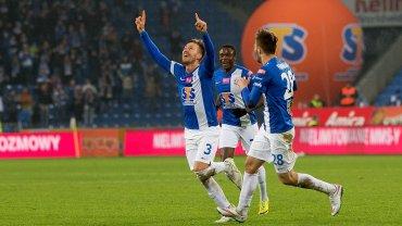 Lech Poznań - Jagiellonia Białystok 2:0. Barry Douglas po strzeleniu gola na 1:0
