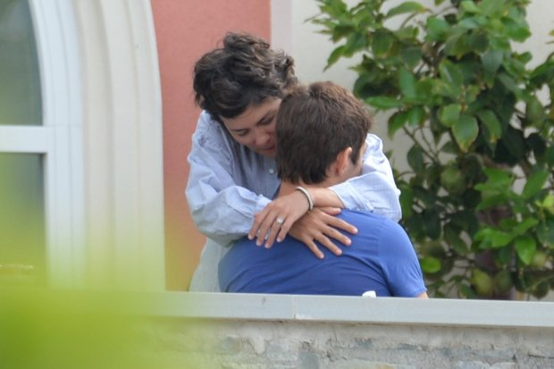 EXCLUSIVE: Portovenere(Italy),  Audrey Tautou with new partner Yann Le Bourbouach   Pictured: Audrey Tautou with Yann Le Bourbouach