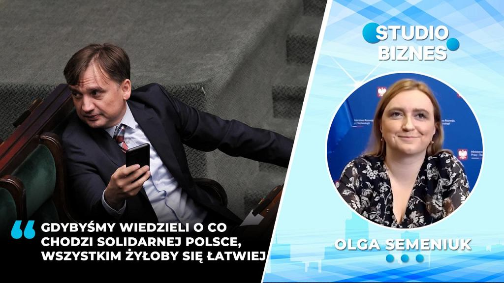 Olga Semeniuk w 'Studiu Biznes'