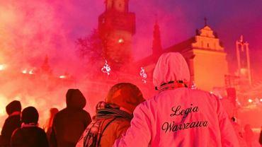 Częstochowa - uczestnicy IX Patriotycznej Pielgrzymki kibiców na Jasną Górę
