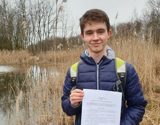 Jarek zgłosił projekt kwietnych łąk do Łódzkiego Budżetu Obywatelskiego (fot. Katarzyna Brodecka / Archiwum prywatne)