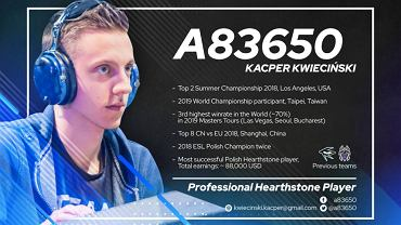 Kacper Kwieciński i jego osiągnięcia po odejściu z Teamu Gunji. Źródło: Facebook