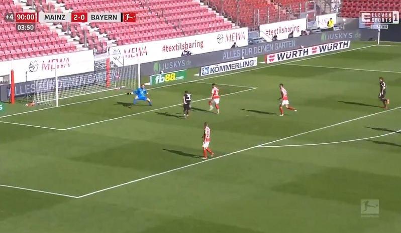 Lewandowski strzelił gol Mainz