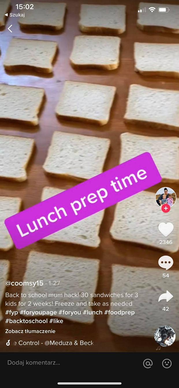'Leniwa' matka przygotowała kanapki na dwa tygodnie i je zamroziła, żeby zaoszczędzić czas na przygotowaniu posiłków dla dzieci. Naprawdę wyglądają tak okropnie?