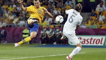 Zlatan Ibrahimovic podczas Euro