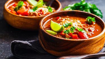 Zupa meksykańska. Zdjęcie ilustracyjne