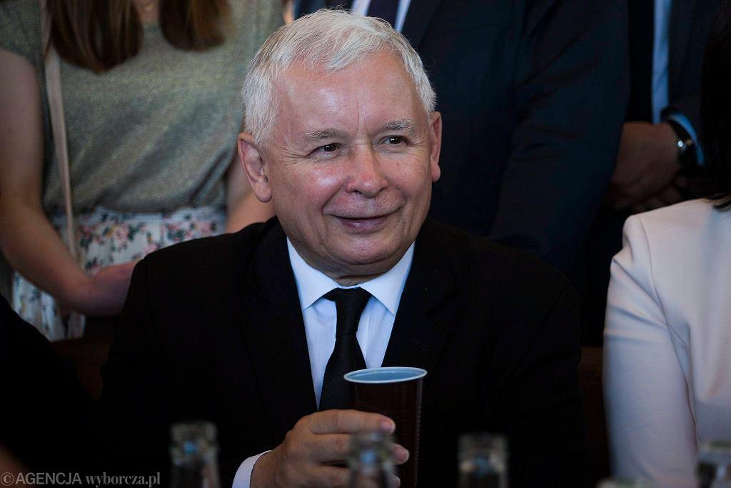 Jarosław Kaczyński w Strachocinie