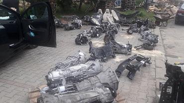 Skradzione części samochodów