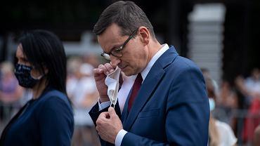 Premier Mateusz Morawiecki wziął w sobotę udział w odsłonięciu tablicy upamiętniającej powstańców śląskich w Parku Śląskim w Chorzowie