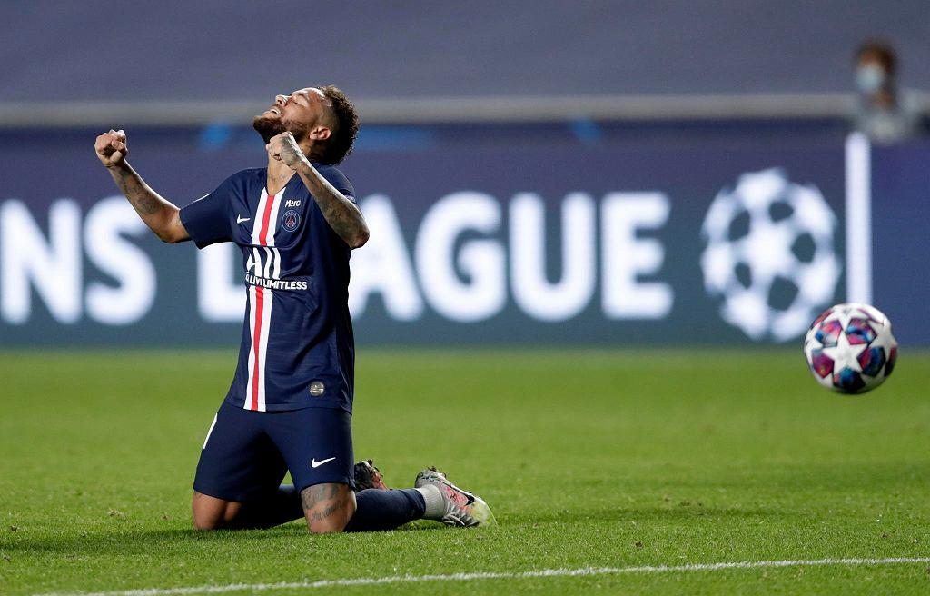 Neymar po wygranym przez PSG półfinale z RB Lipsk