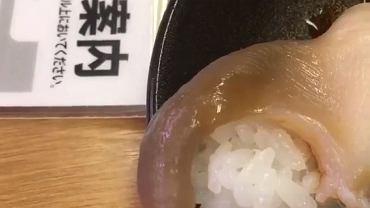 Sushi wraca do życia na talerzu klienta