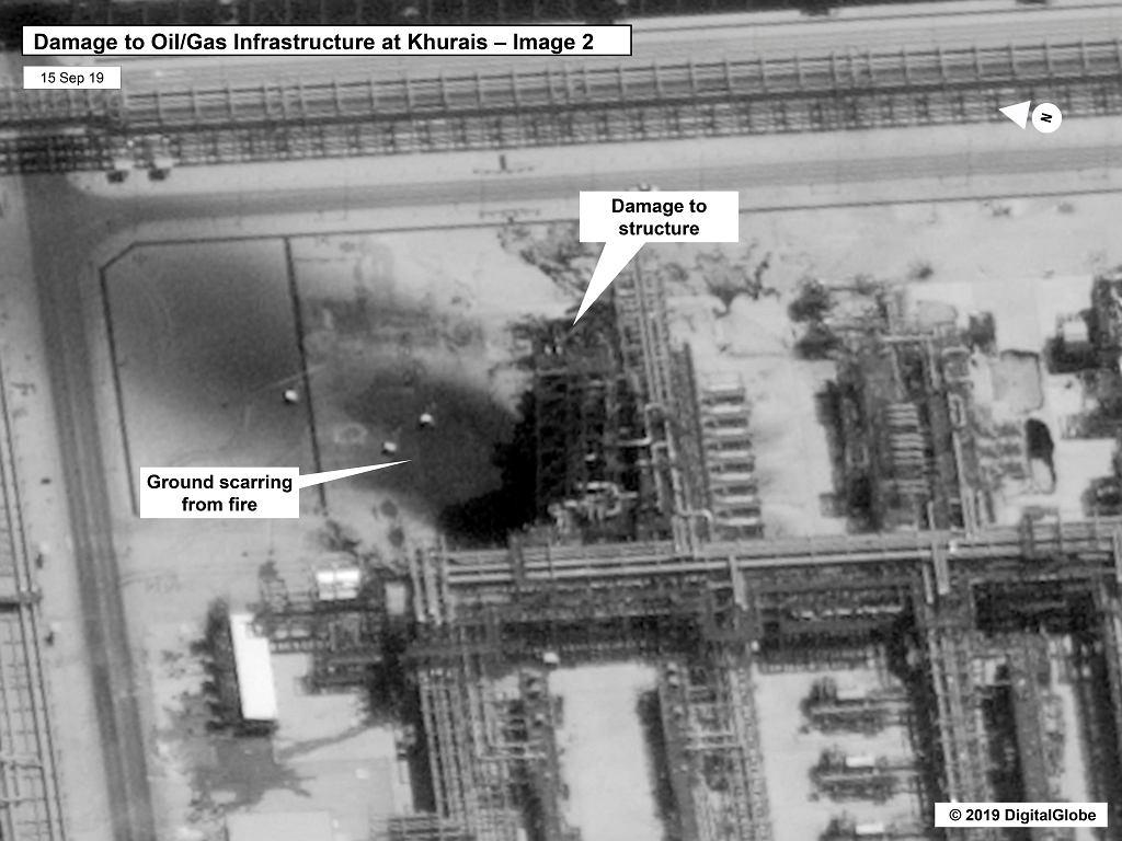 Skutek ataku na pole wydobywcze w Arabii Saudyjskiej