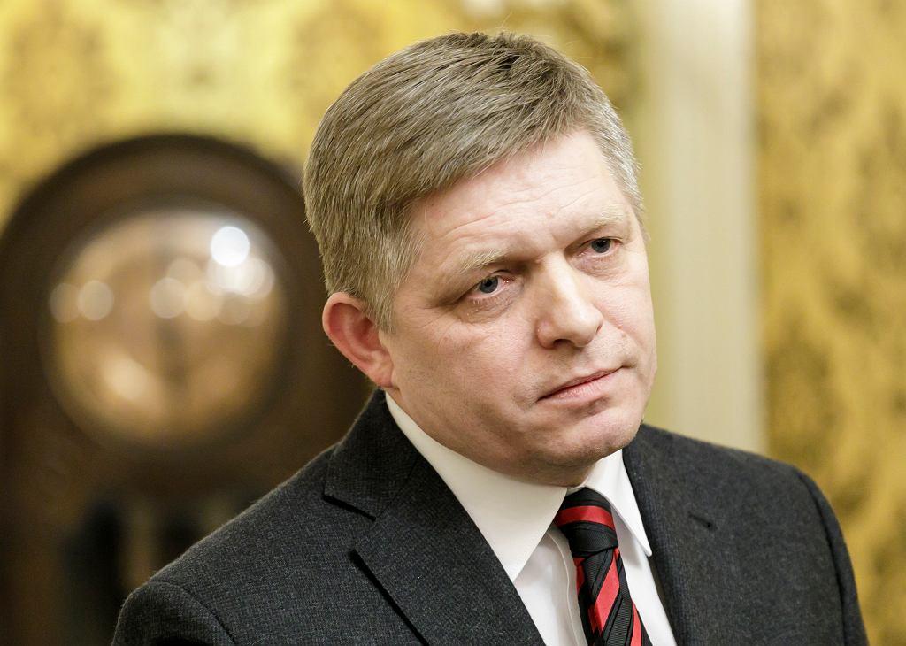 Premier Słowacji Robert Fico.