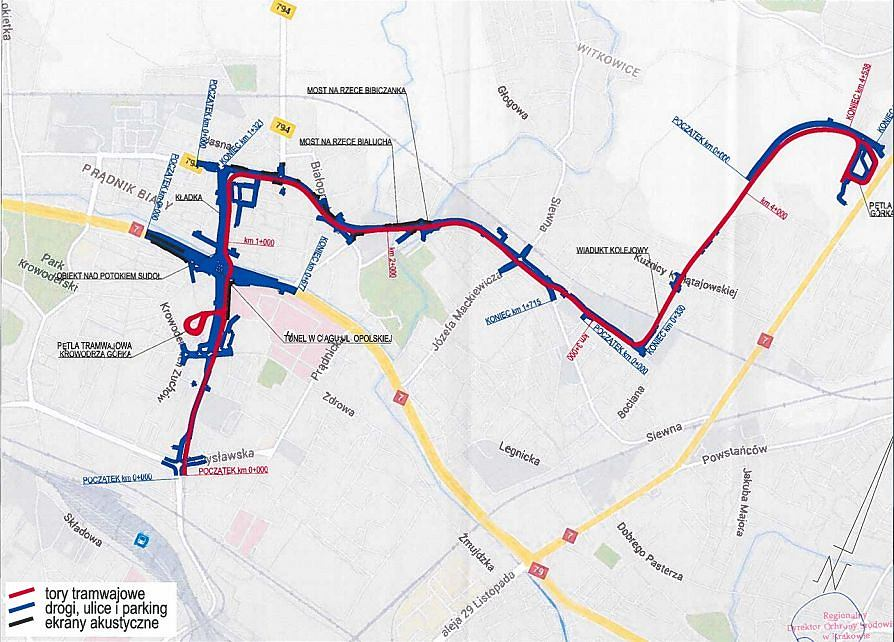 Tramwaj do Górki Narodowej - projekt trasy