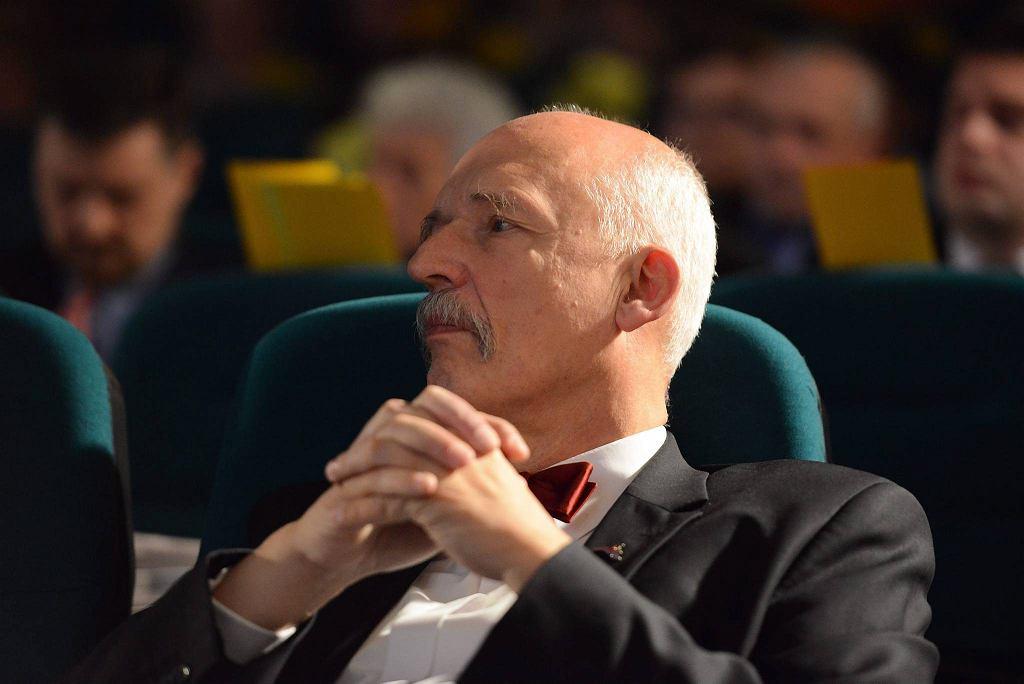 Janusz Korwin-Mikke na konwencji KNP