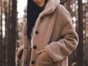 pluszowy płaszcz