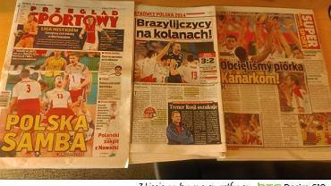 Polskie gazety po meczu z Brazylią
