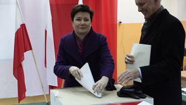 Wybory samorządowe 2014, Hanna Prezydent Warszawy Hanna Gronkiewicz-Waltz podczas głosowania w stolicy