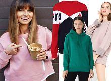 Kolorowe bluzy: Anna Lewandowska wybiera pastele, Kożuchowska stawia na printy