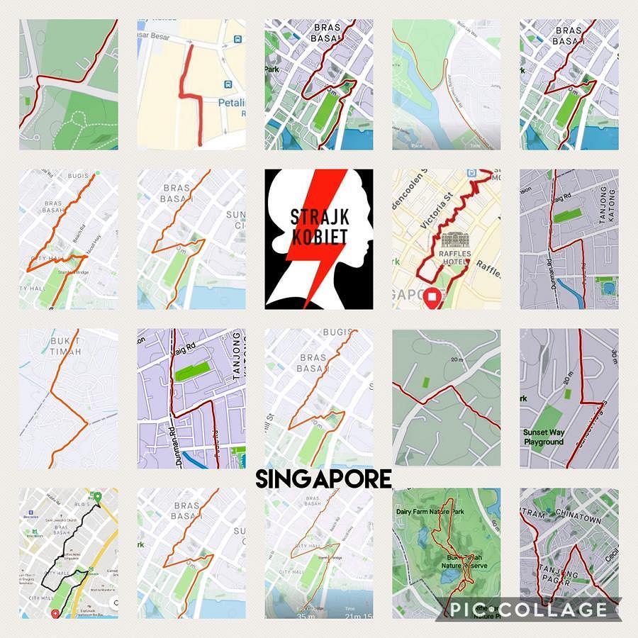 'Błyskawiczne spacerki' w Singapurze. Polonia wspiera strajk kobiet