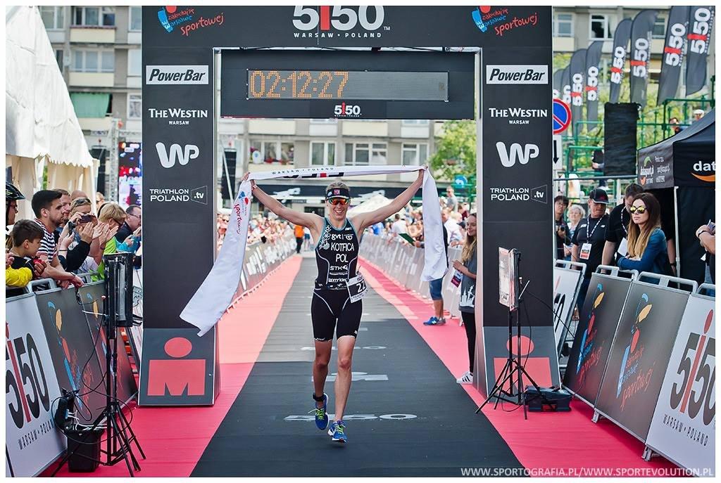 Najszybsza kobieta na 5150 Warsaw Triathlon - paulina Kotfica