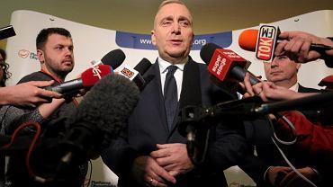 Warszawa, 28 stycznia 2017 r. Grzegorz Schetyna podczas Rady Krajowej Platformy Obywatelskiej