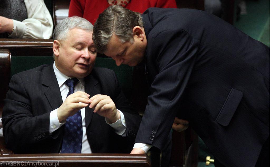 Jarosław Kaczyński i Marek Suski
