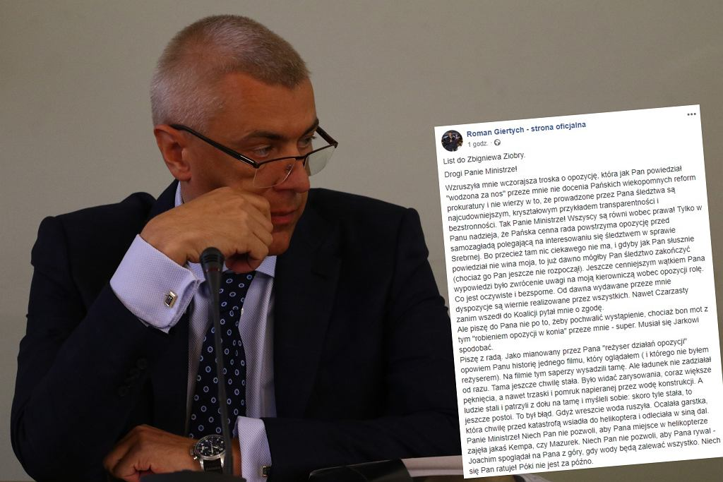 Roman Giertych napisał list do Zbigniewa Ziobry