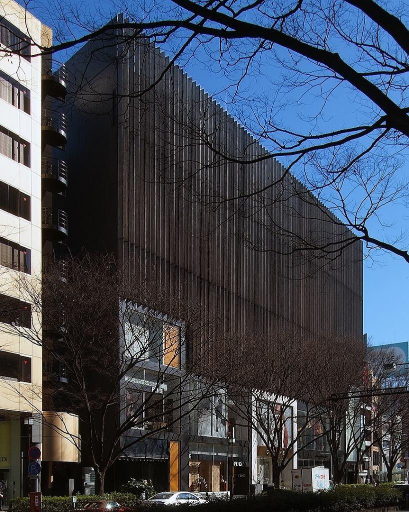 Jedna z realizacji Kengo Kumy - Budynek One Omosetando w Tokio