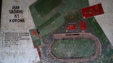 Tablica z zaznaczonymi obiektami sportowymi