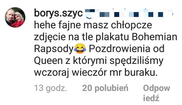 Wpis Borysa Szyca