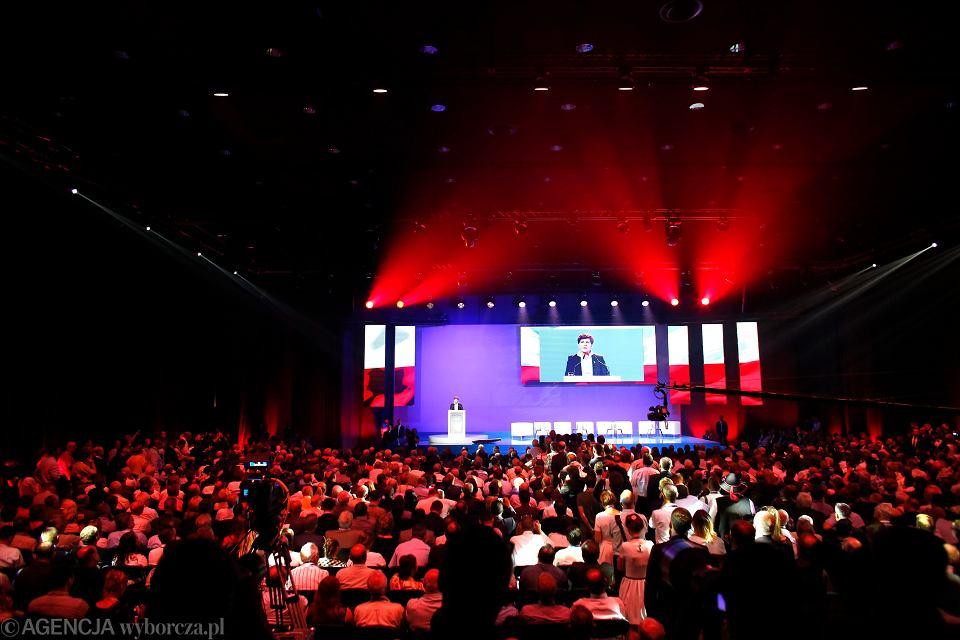 04.07.2015 , Katowice . Przemówienie Beaty Szydło podczas Konwencji Programowej PiS w Międzynarodowym Centrum Kongresowym .