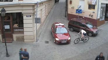 Wypadek z udziałem rowerzysty w Bydgoszczy