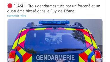 Trzech francuskich policjantów zginęło podczas interwencji
