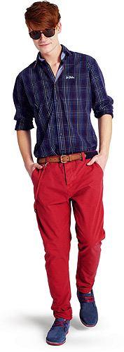 Modne kolorowe spodnie, spodnie, moda męska, Spodnie z kolekcji Big Star, bawełna. Cena: 169,90 zł
