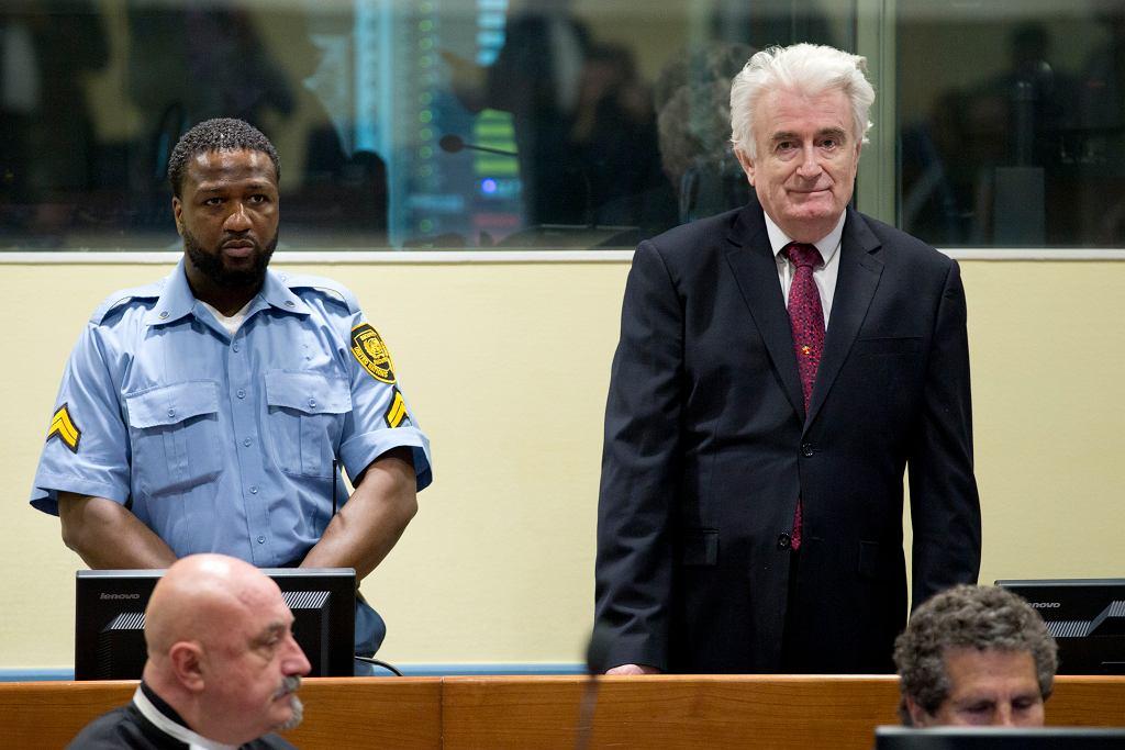 Radovan Karadžić w czasie procesu