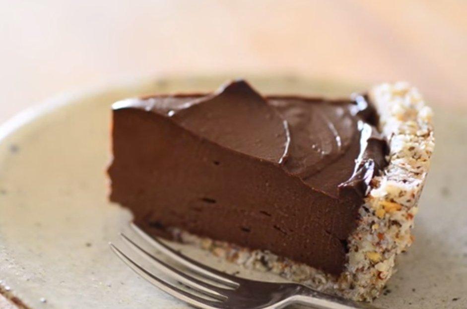 Witariańska tarta czekoladowa