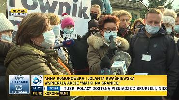 Matki na granicy. Jolanta Kwaśniewska i Anna Komorowska