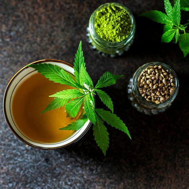 Napary można przygotować z suszu liści i kwiatów konopi